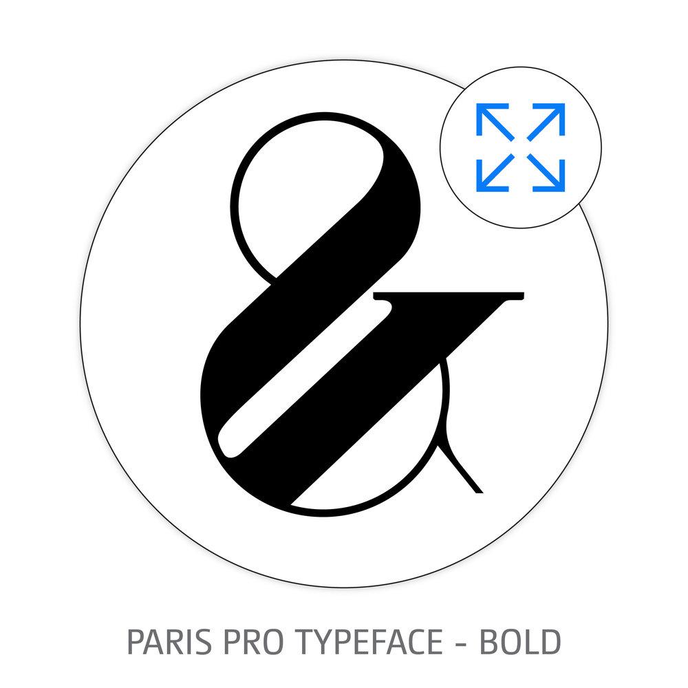 PARIS PRO TYPEFACE BOLD