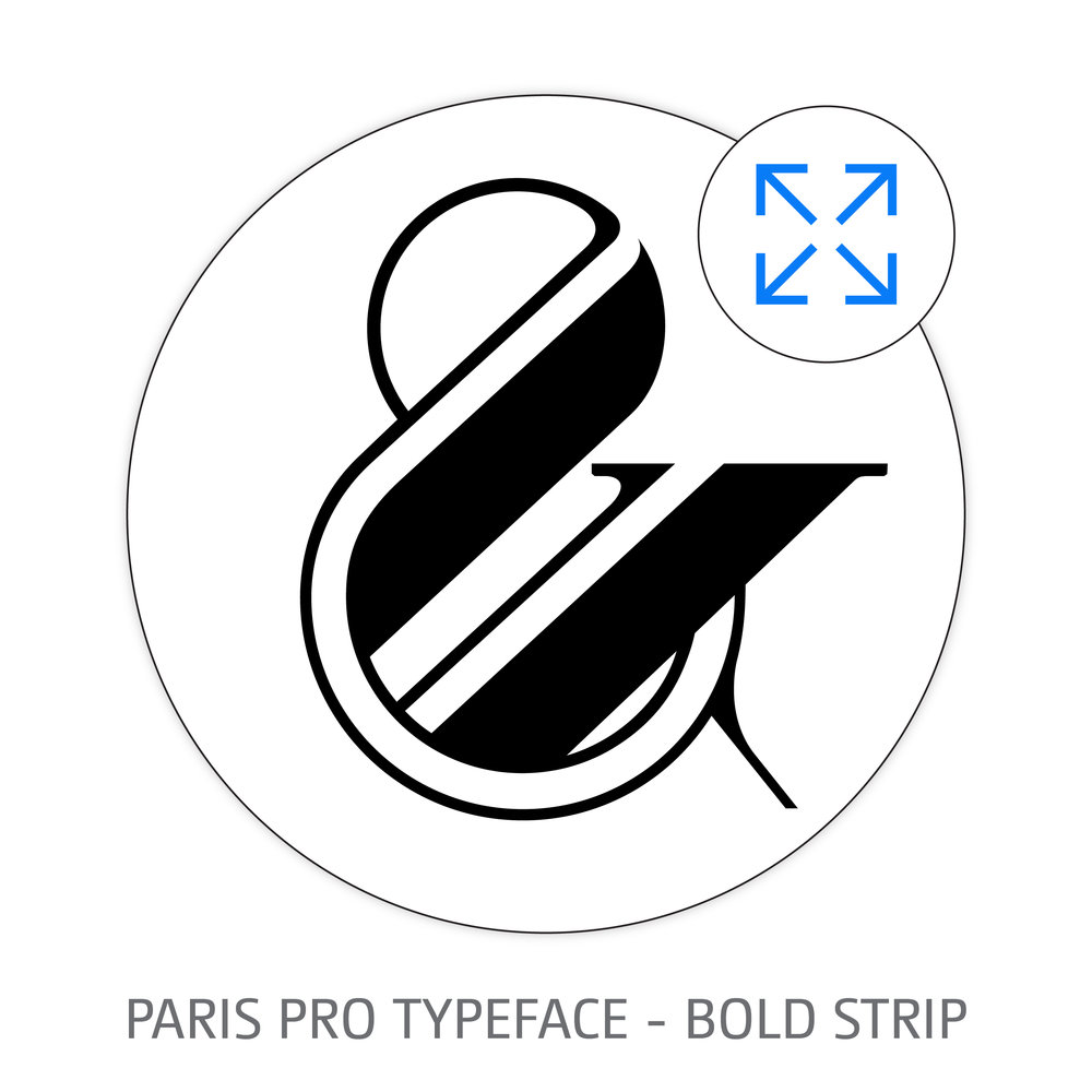PARIS PRO TYPEFACE BOLD STRIP