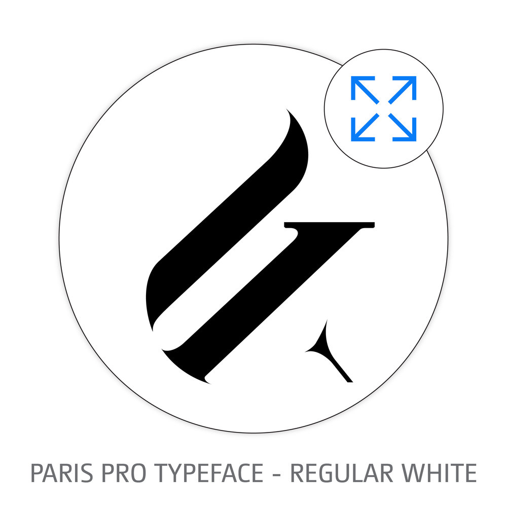 PARIS PRO TYPEFACE REGULAR WHITE