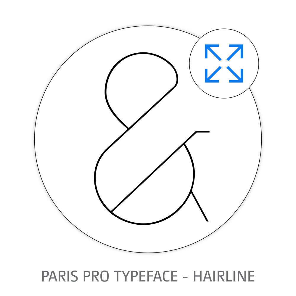 PARIS PRO TYPEFACE HAIRLINE