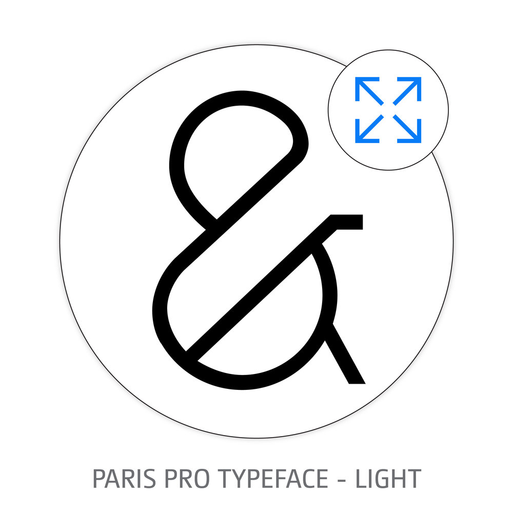 PARIS PRO TYPEFACE LIGHT