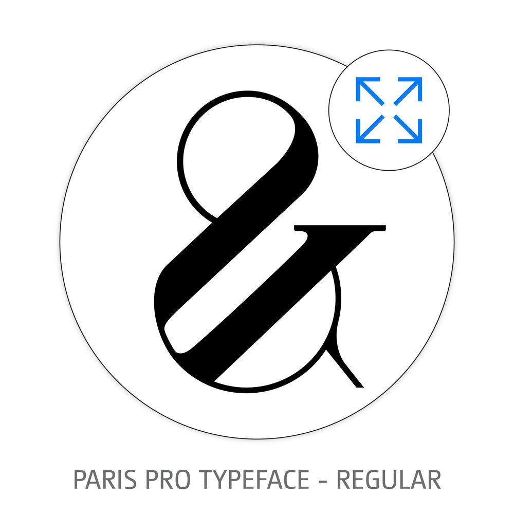 Paris Pro Typeface - Regular Style