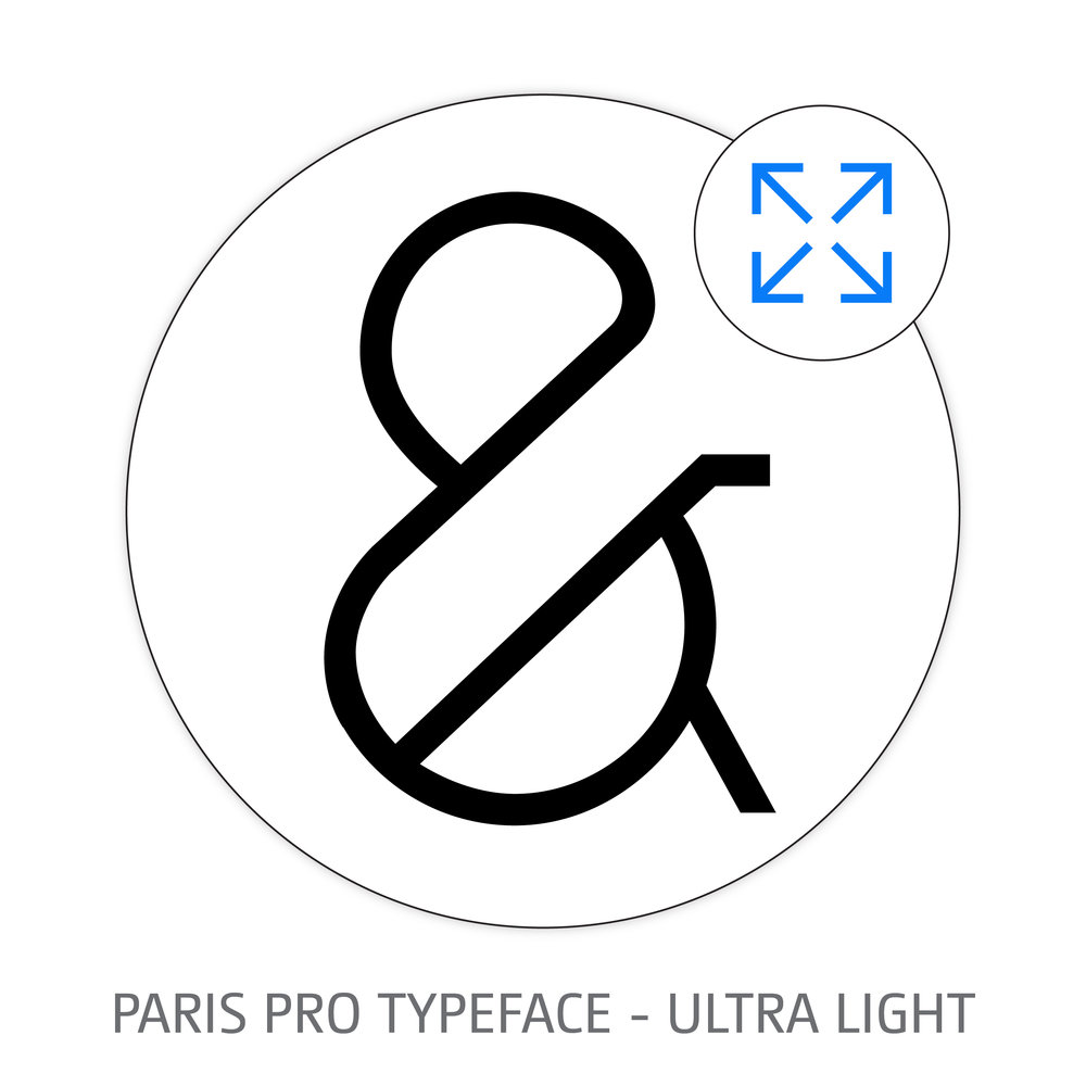 PARIS PRO TYPEFACE ULTRA LIGHT