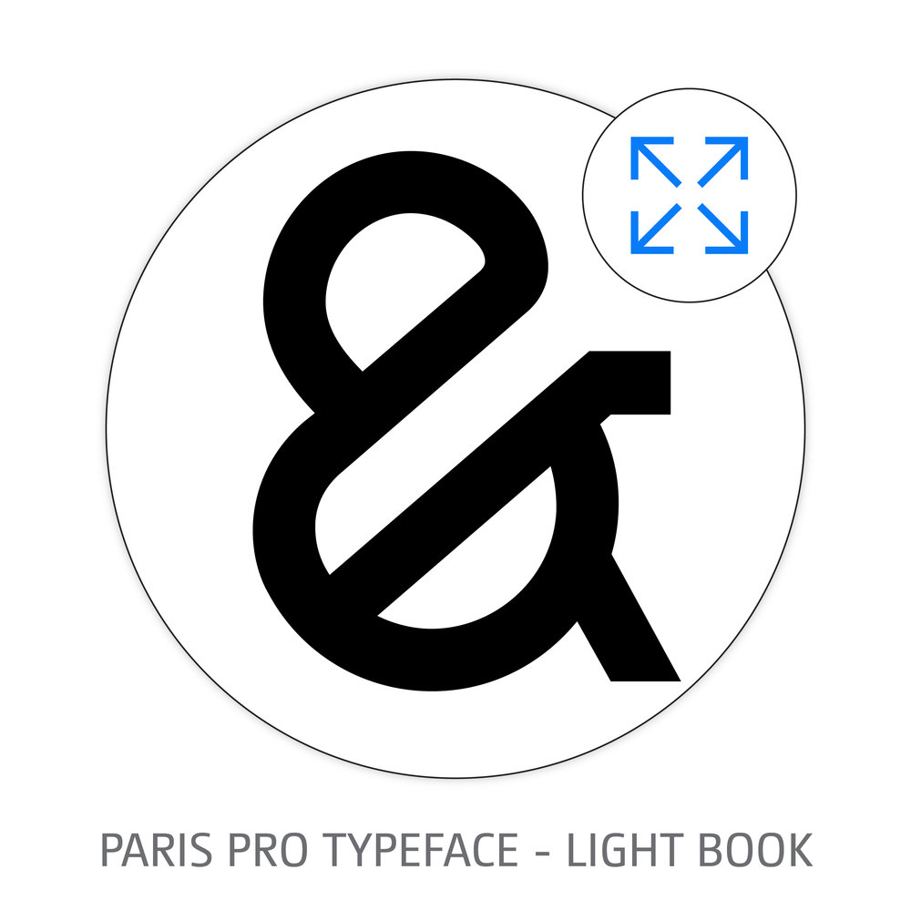 PARIS PRO TYPEFACE LIGHT BOOK