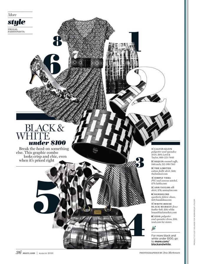 Fashion magazine typography page - moshik nadav