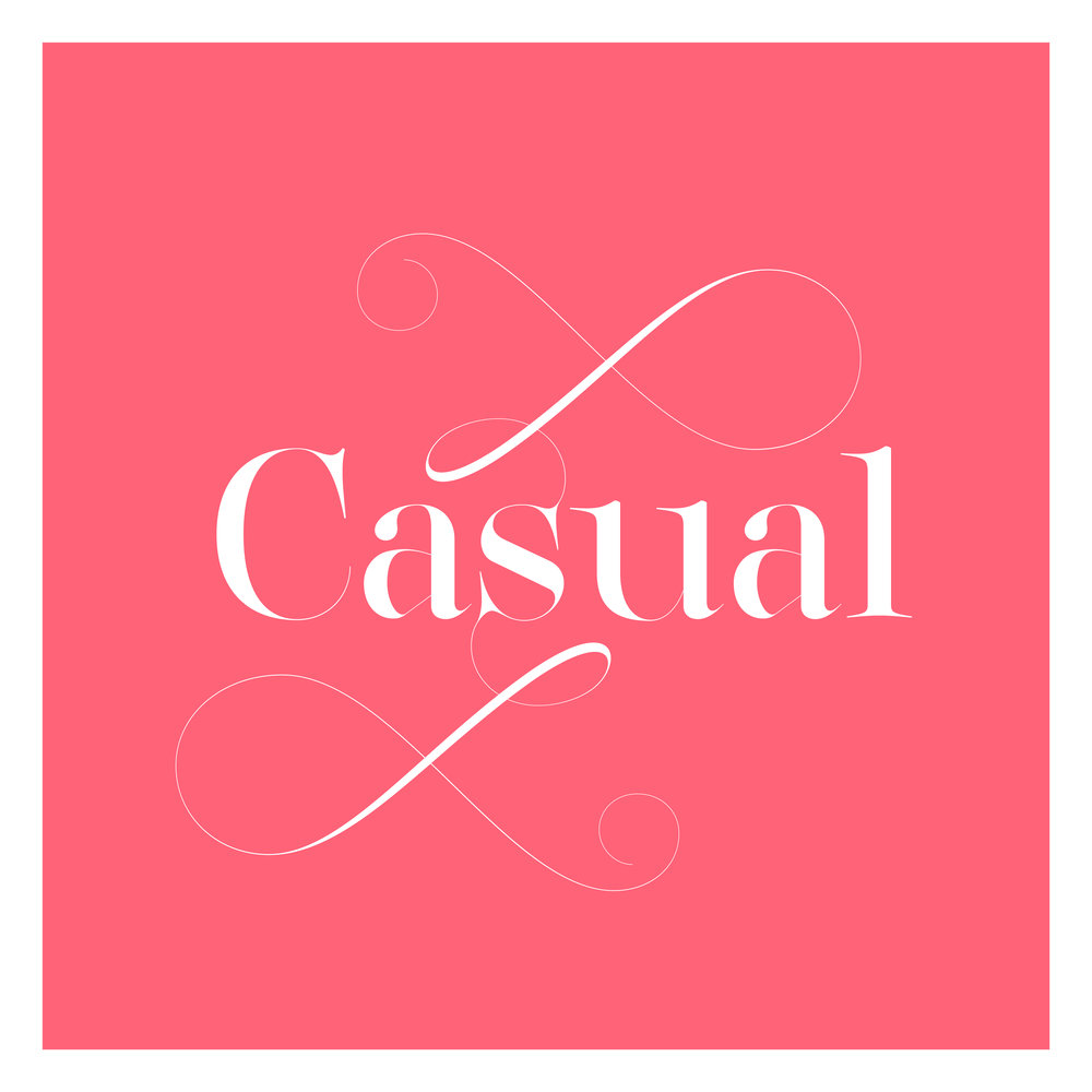 Casual fashion typeface