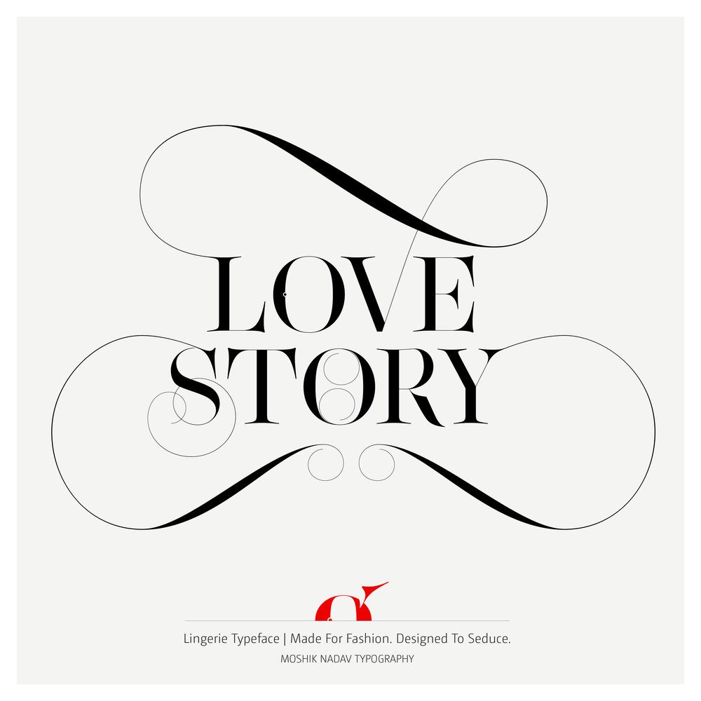 Lovey story fashion typeface