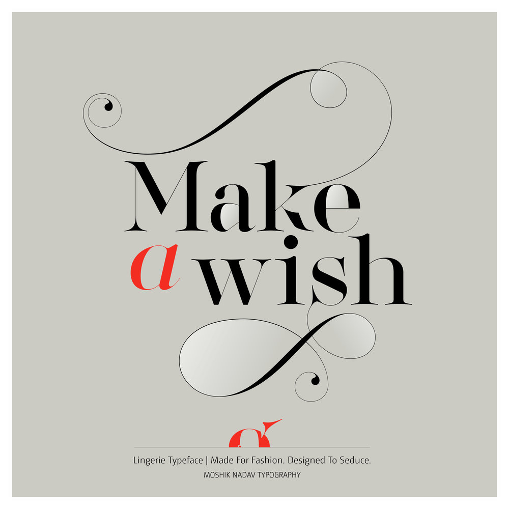 Make a wish - Typography for fashion magazine
