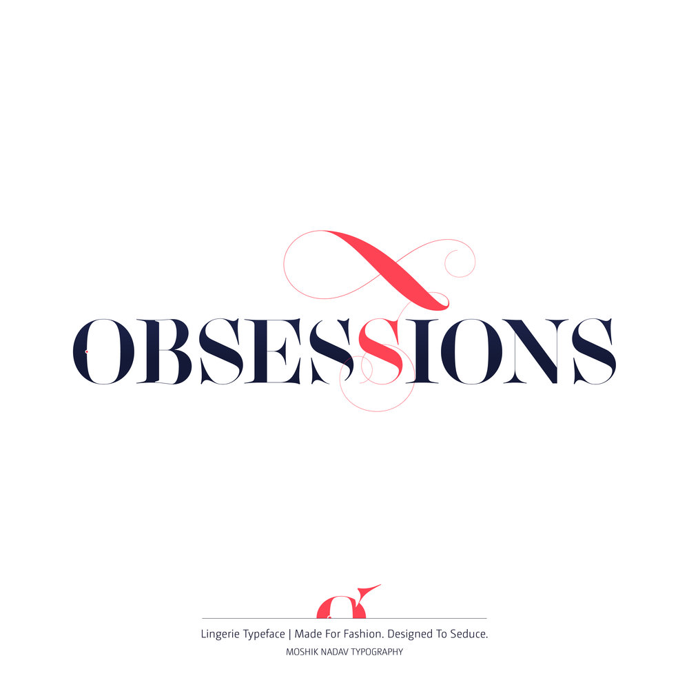 Obsession typography
