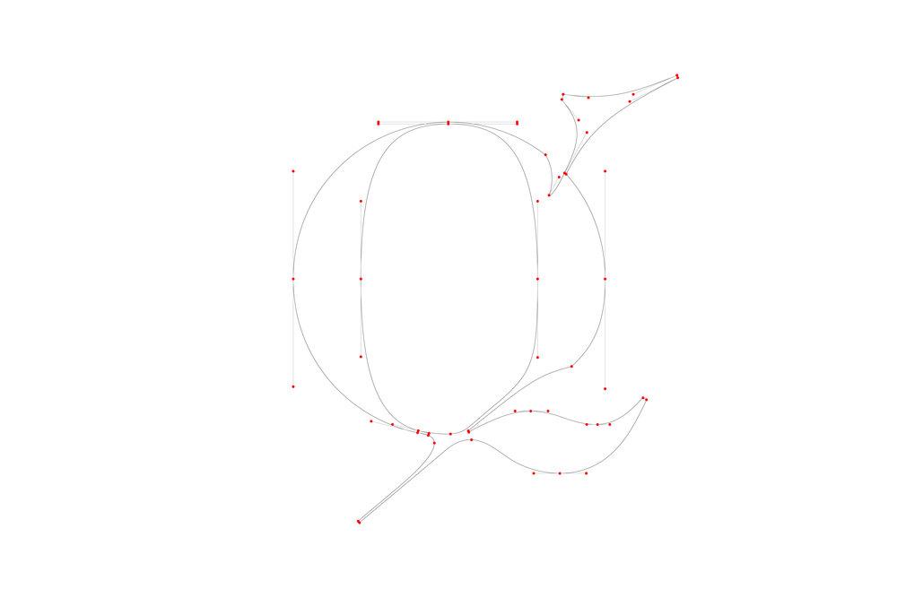 Moshik Nadav Typography Lingerie Typeface Q