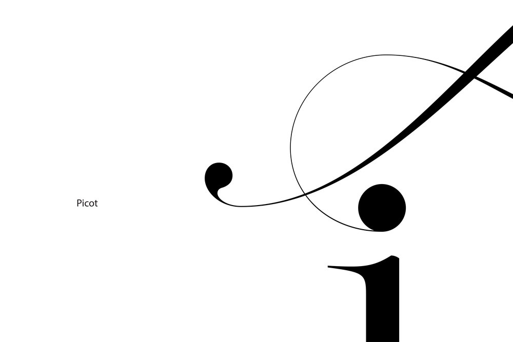 Lingerie Typeface Picot swashes ends - Moshik Nadav Typography