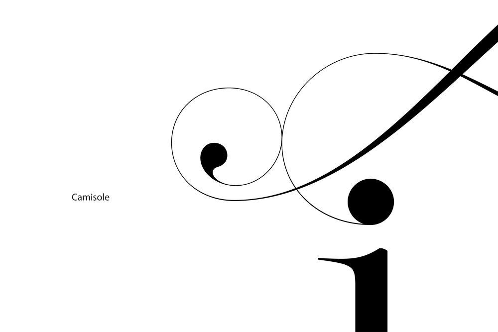 Lingerie Typeface Camisole swashes ends - Moshik Nadav Typography