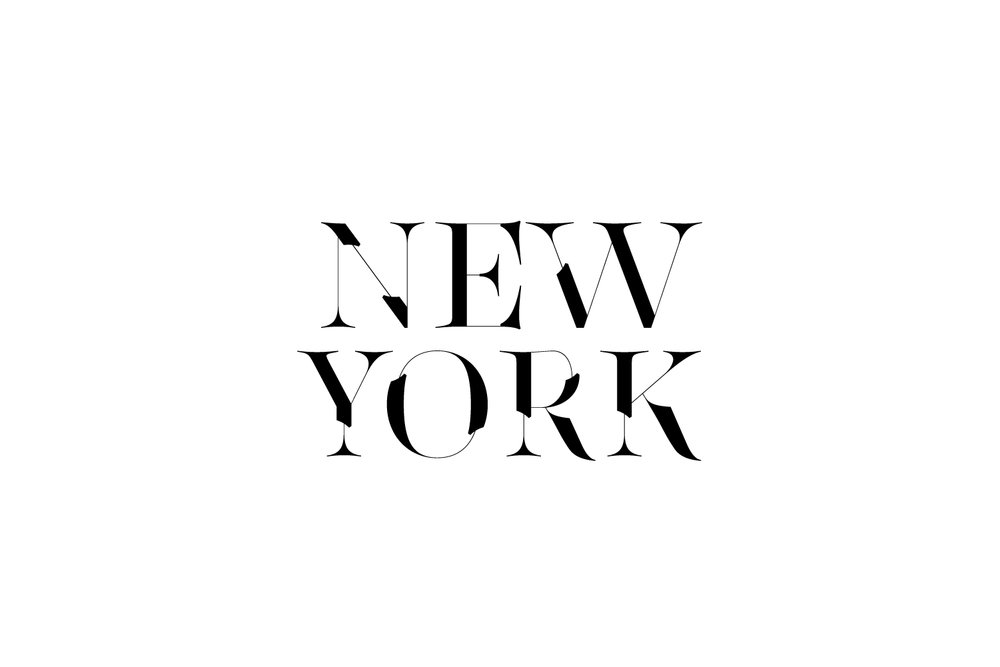 New York Typography made with Lingerie Typeface
