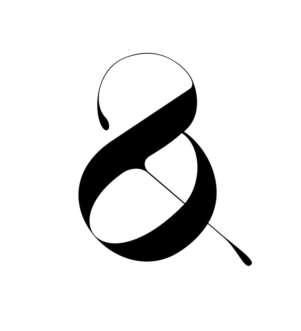 Lou and grey ampersand designed by Moshik Nadav Typography