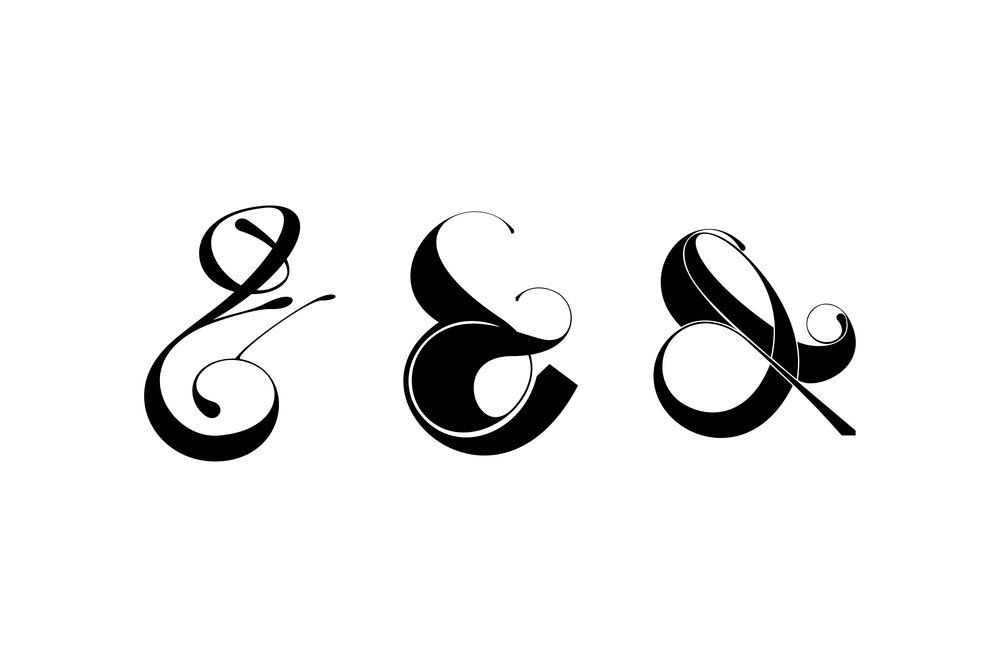 3 Playful ampersands from the experimental project by Moshik Nadav Typography. See more
