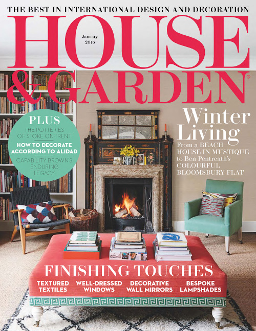 Moshik Nadav Fashion Typography - House Garden magazine cover