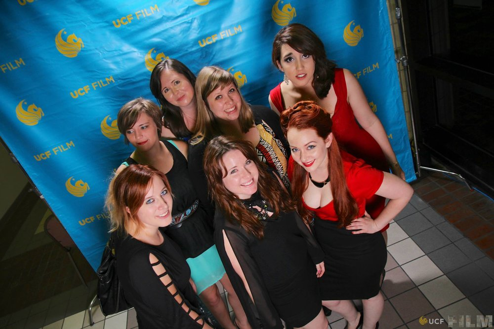 Kelly along with the other girls of her graduating Film B.F.A. degree program at UCF.