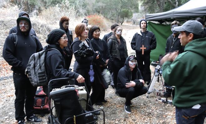 Kelly (conematogpraher) on set of Joseph Gordon-Levitt's Hit Record shoot