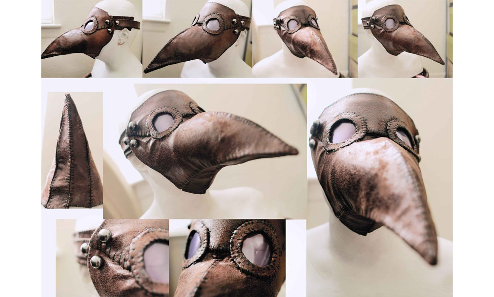 After finding she needed to make a plague doctor mask Kelly browsed the internet looking for a good tutorial and couldn't find one to her liking, so she decided to make it up as she went and created a tutorial that later went viral once she posted it online  here .