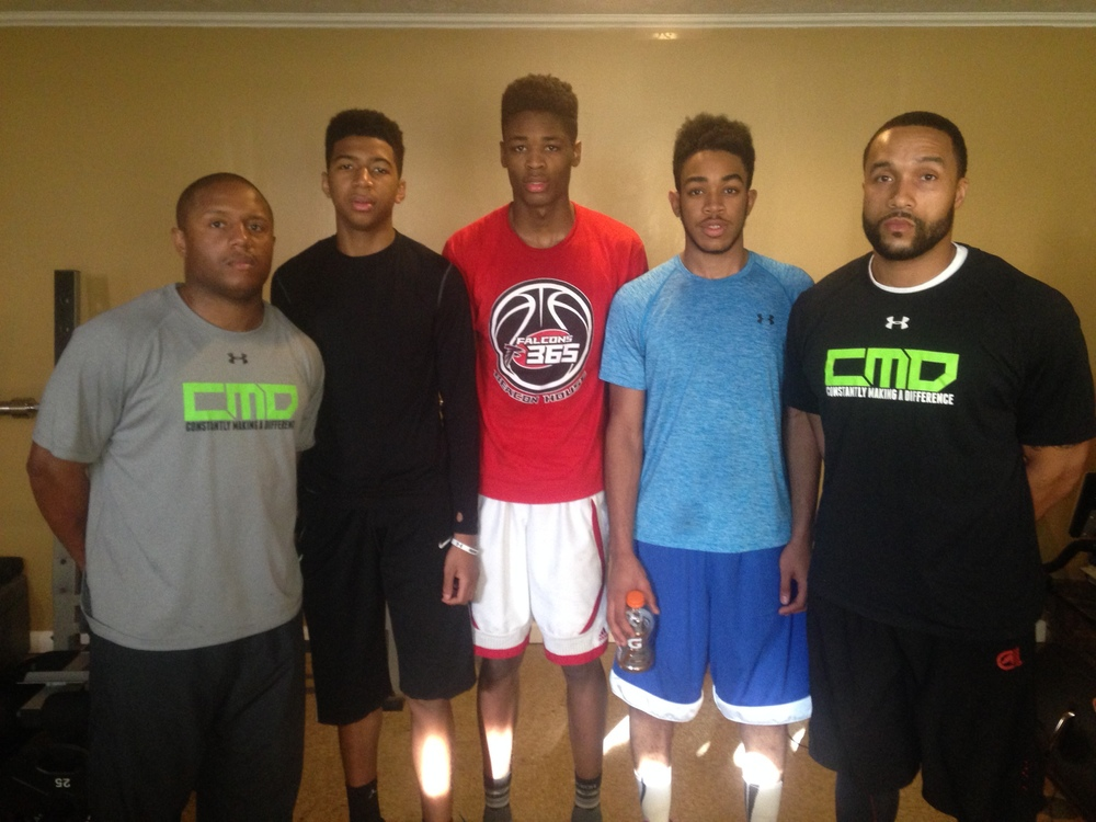 Donald - Jr. PG- Douglass HS  Zion- Jr. C- Douglass HS  Lawrence- Jr. SG- National Christian