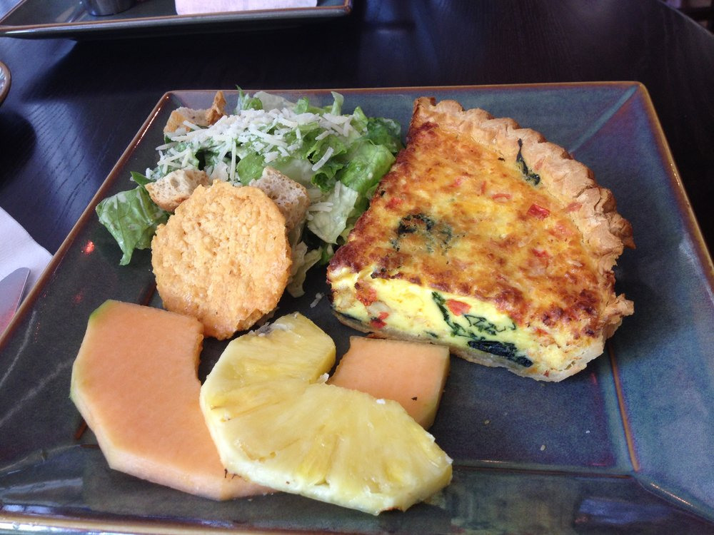Crab, spinach quiche