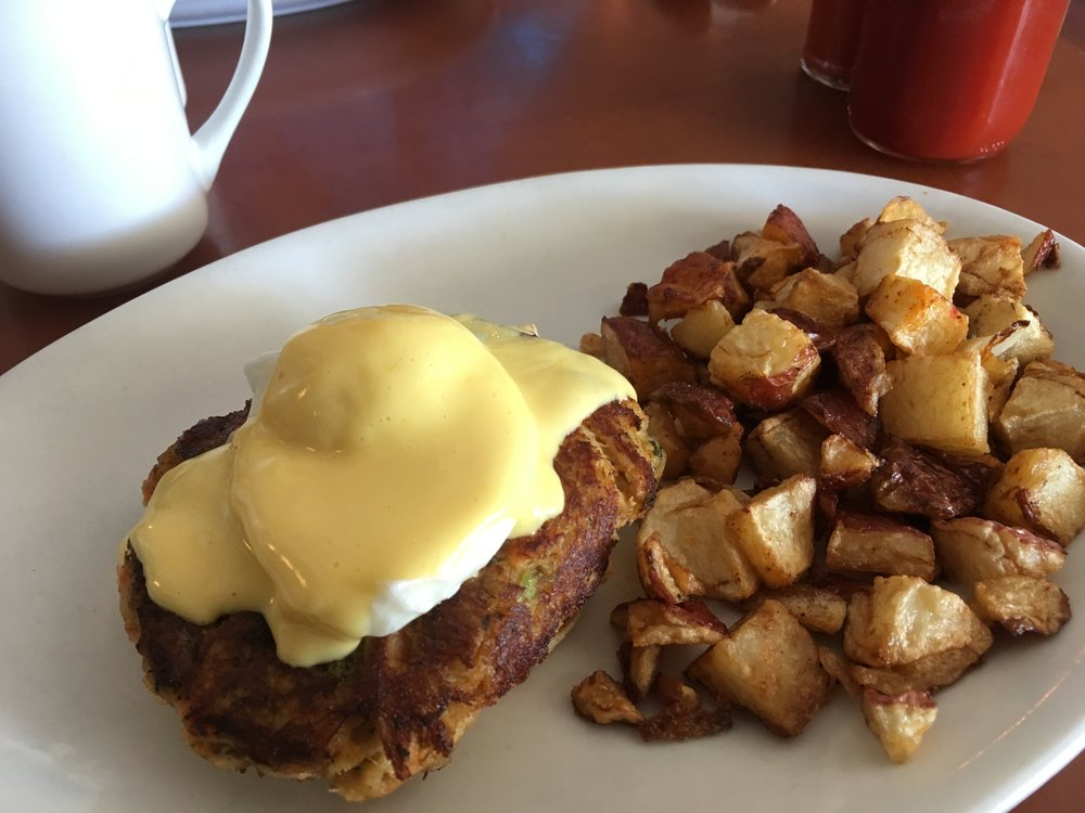 1/2 order of the Crab cake Benedict with potatoes.  YUM!  Can't even describe how delicious this was.