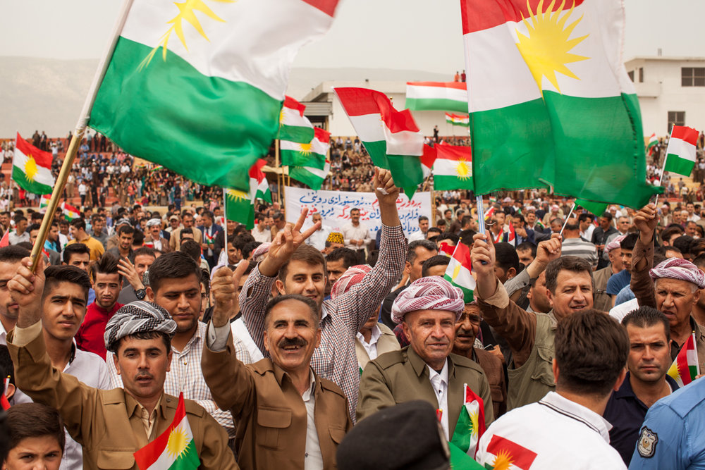 PDK rally in support of Kurdistan's Referendum (May 2016).