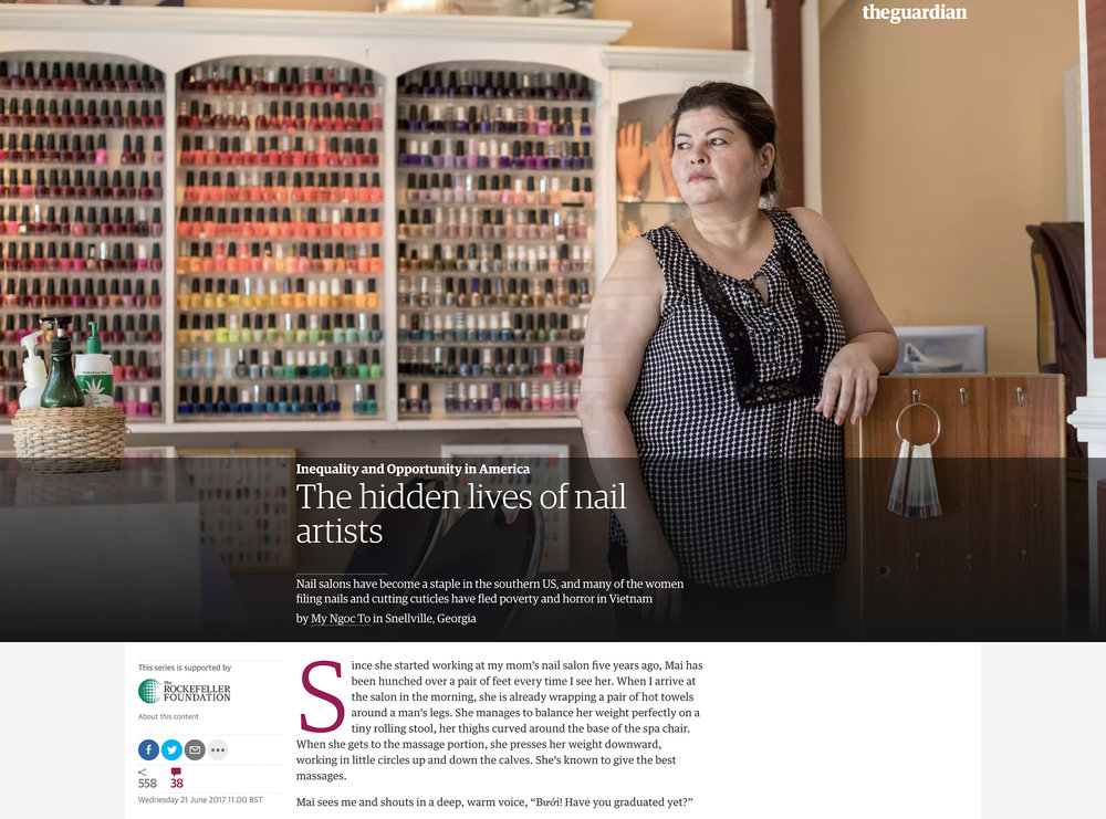 The Guardian    The hidden lives of nail artists