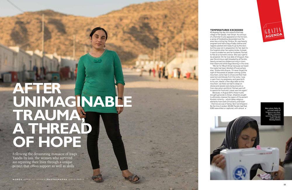 Grazia //Agenda     After Unimaginable Trauma, a Thread of Hope