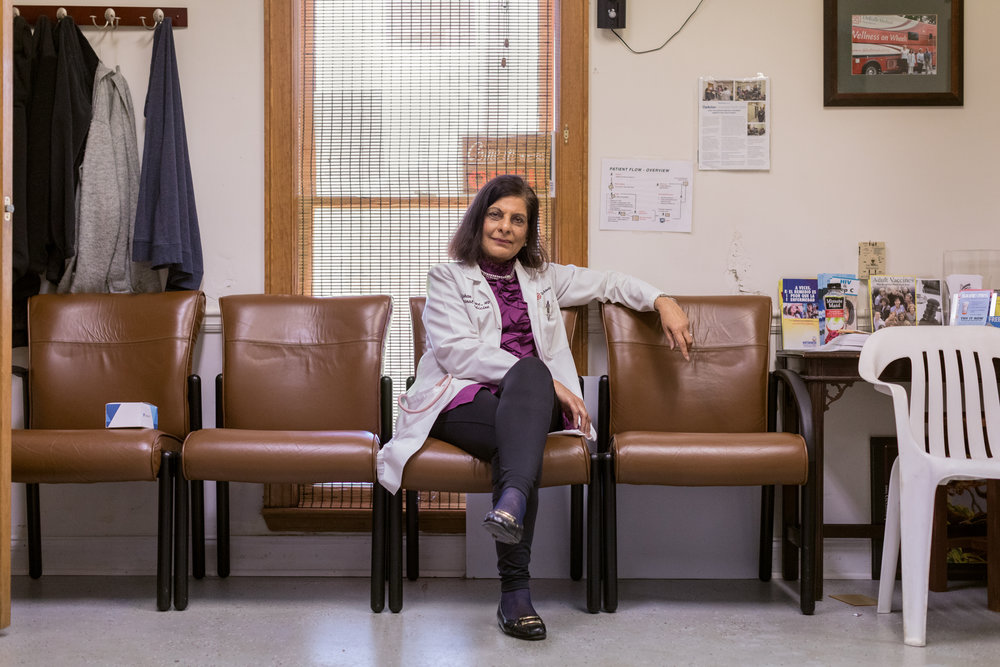 Growing up in Tanzania, Gulshan Harjee dreamed of becoming a doctor. Instead, as Tanzania moved to expel its Asian citizens, she found herself stateless. After her studies in Iran were cut short by the 1979 Revolution, she eventually settled in the US and made her way to medical school. Three years ago, she co-founded the Clarkston Community Health Centre, where anyone without health insurance -- regardless of their legal status -- can seek medical or dental treatment. The line of patients waiting for the Sunday clinic can sometimes stretch around the block
