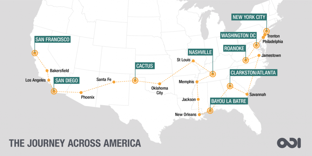 Follow along at the  ODI Journey Across America Blog