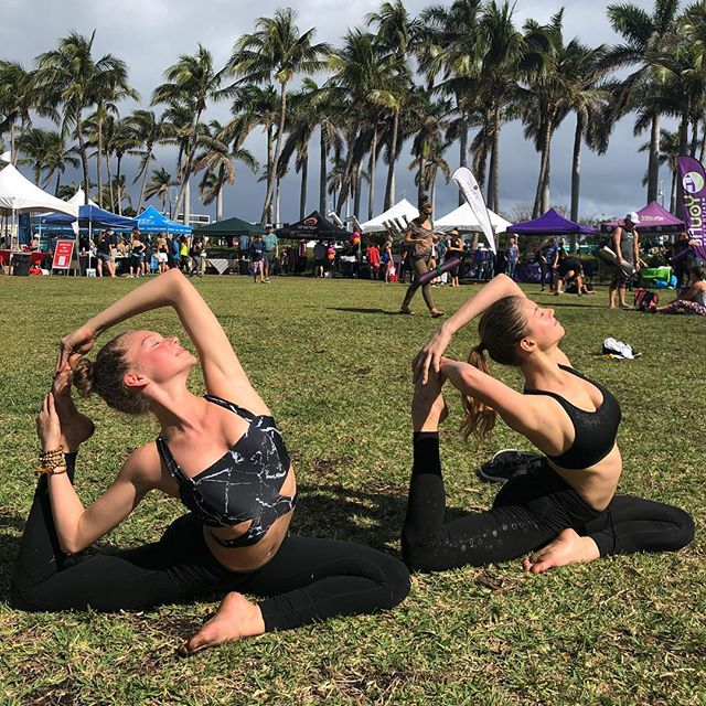 yoga w @palmbeachyogi 🙏
