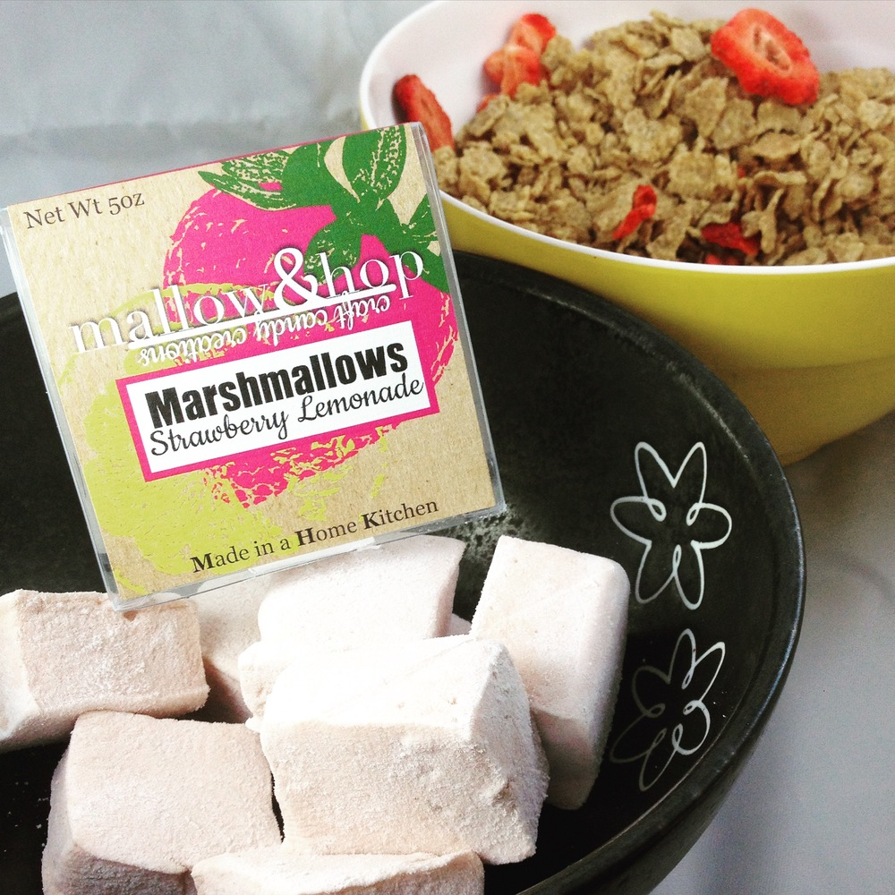 Strawberry Lemonade Marshmallows and Special K w/ Berries