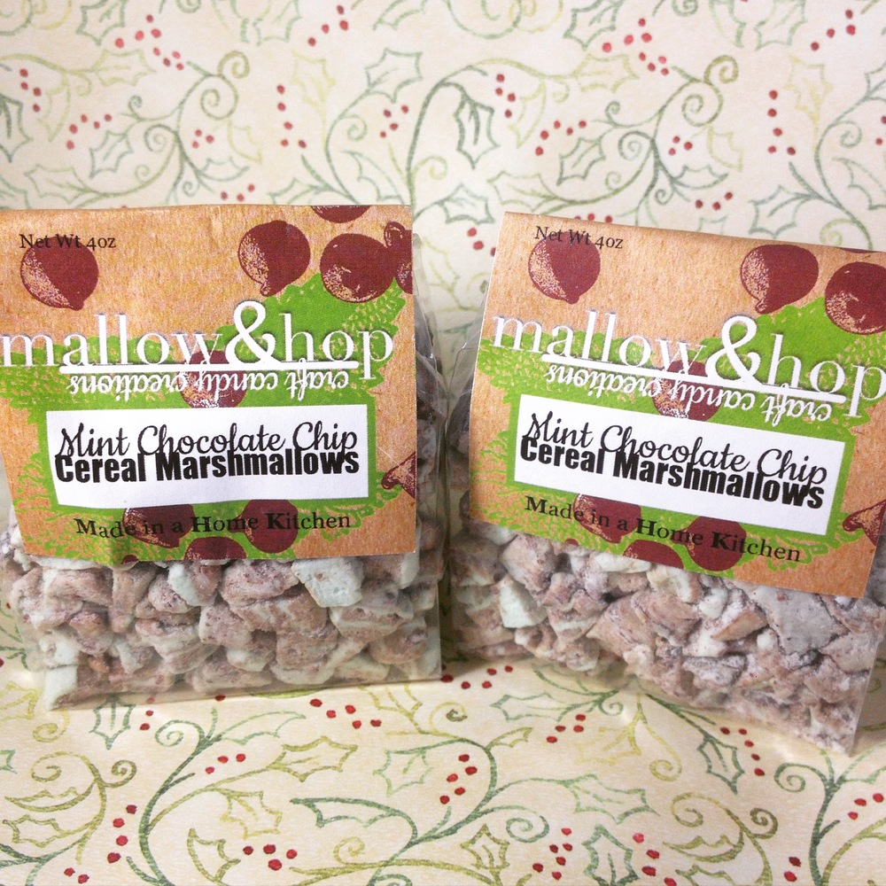Mint Chocolate Chip Cereal Marshmallows