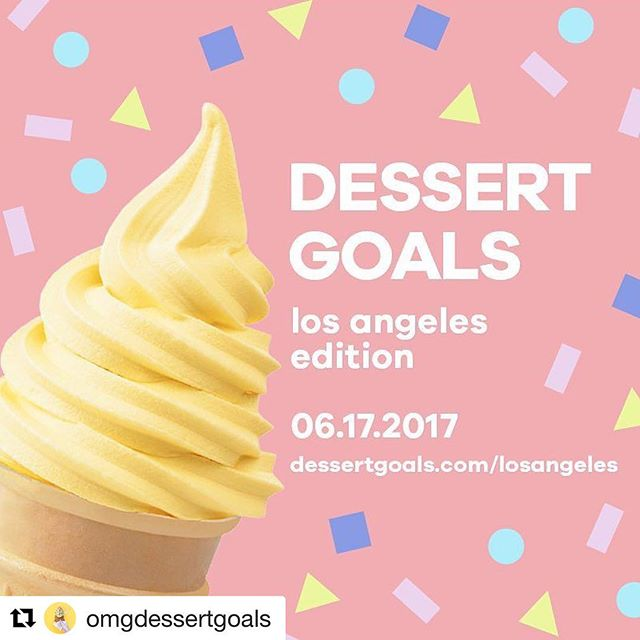 TOMORROW!! At the Cooper Design Space!  #Repost @omgdessertgoals (@get_repost) ・・・ We are SO excited to announce we are bringing Dessert Goals to L.A. this summer! Tell all your west coast friends and get ready to eat. All. The. Things. #omgdessertgoals #losangeles #lalife #shoplocal #shopindependent #la_withme #lafood #lafoodie #eaterla #dessertporn #dessert