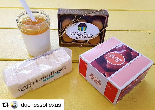 Someone that loves passion fruit as much as me! The marshmallows are made with real passion fruit purée - I always buy extra so I can make passion fruit cocktails for weeks... 🍹  #Repost @duchessoflexus (@get_repost) ・・・ Satisfied my passion fruit obsession today at @omgdessertgoals w/ passion fruit panna cotta, passion fruit brigadeiro, passion fruit marshmallows, and mango passion caramels 💛 #dessertgoals #dessert #omgdessertgoals #passionfruit #lebongarcon #mallowandhop #mayabrigadeiro #thelittlesweetplace