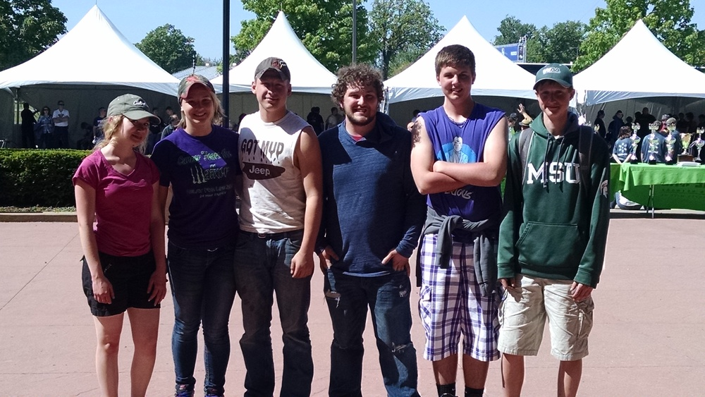 From Left: Catherine Plank, Kasey Haney, Kevin Terrell, Thomas Sheets, Brennan Westveer, Ryan Grotenrath