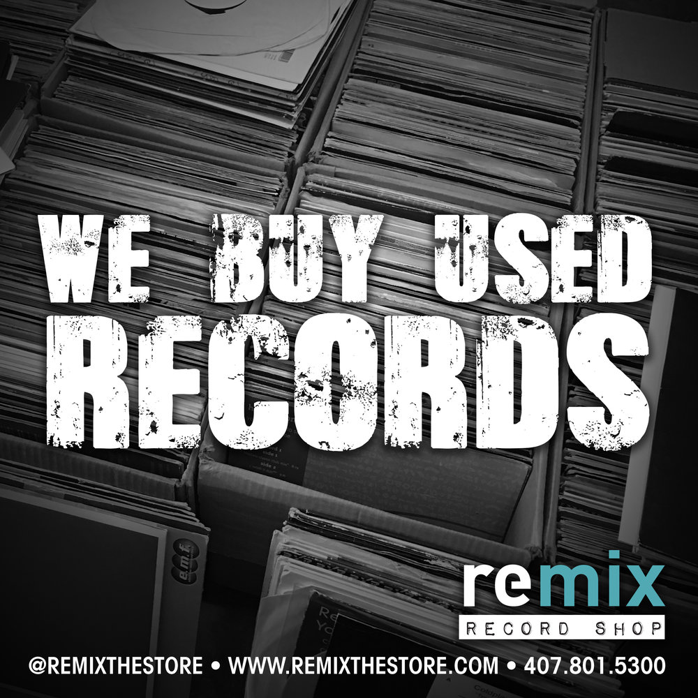 Sell us your used record collection! — REMIX RECORD SHOP | Orlando ...