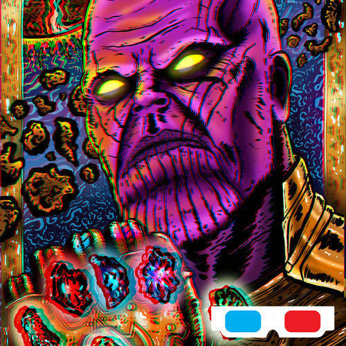 3d Ready Thanos Inspired Print Luis Colindres Art