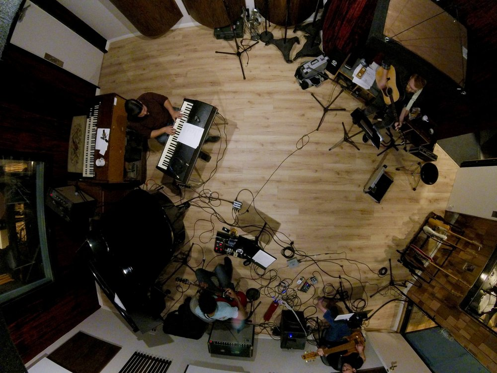Sky Chefs Recording Session (Photo by Chris Schlarb)