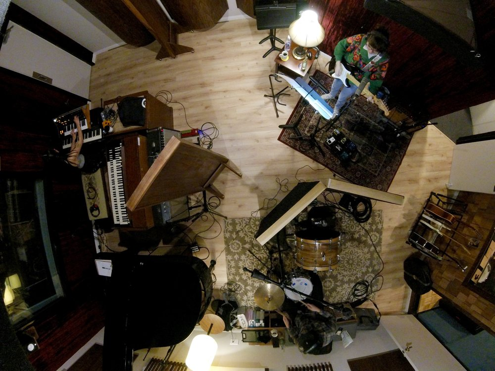 Cherry Glazerr Recording Session (Photo by Chris Schlarb)