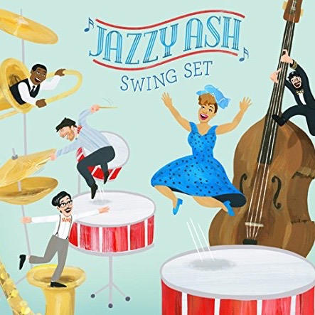 "Jazzy Ash - Swing Set   A children's music album celebrating African-American folk songs, lullabyes, and playground games. ""The most joyful album of the year."" -  Stefan Shepherd ,  Zooglobble  (formerly  NPR )  Produced and Mixed by  Chris Schlarb   Engineered by  Arin Mueller  and  Devin O'Brien     ITUNES   