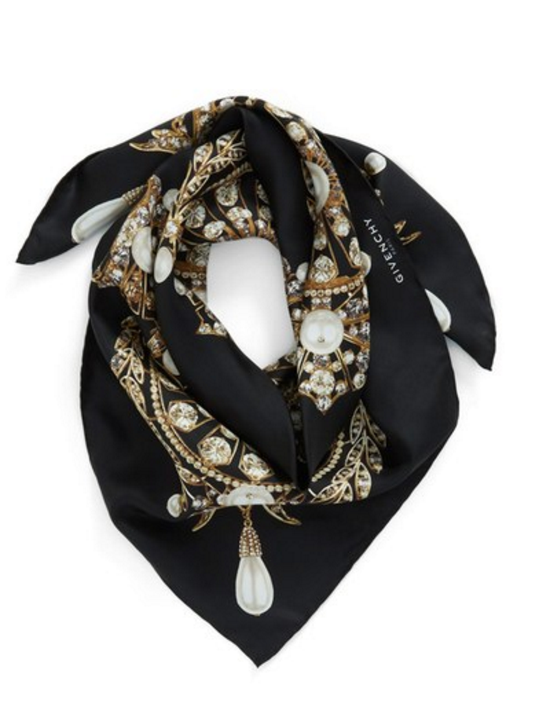 Givenchy 'Jewels' Silk Twill Square Scarf