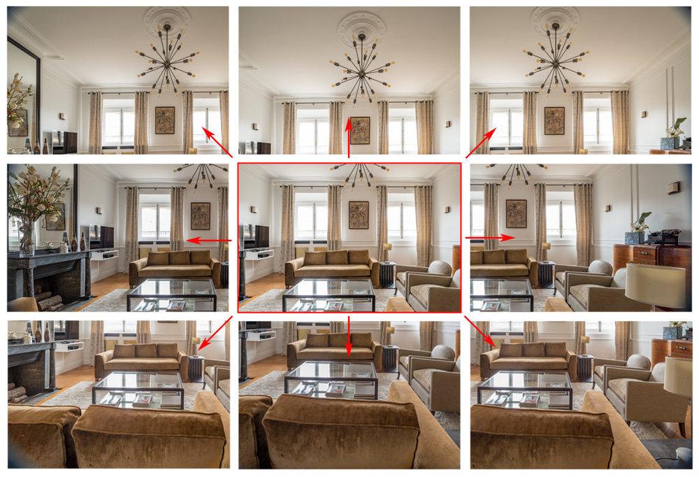 24 mm : l'image du centre est celle que l'on prendrait avec une focale équivalente sans décentrement. En décentrant l'objectif dans toutes les directions, on arrive à couvrir environ 1,7 à 2 fois l'image initiale.