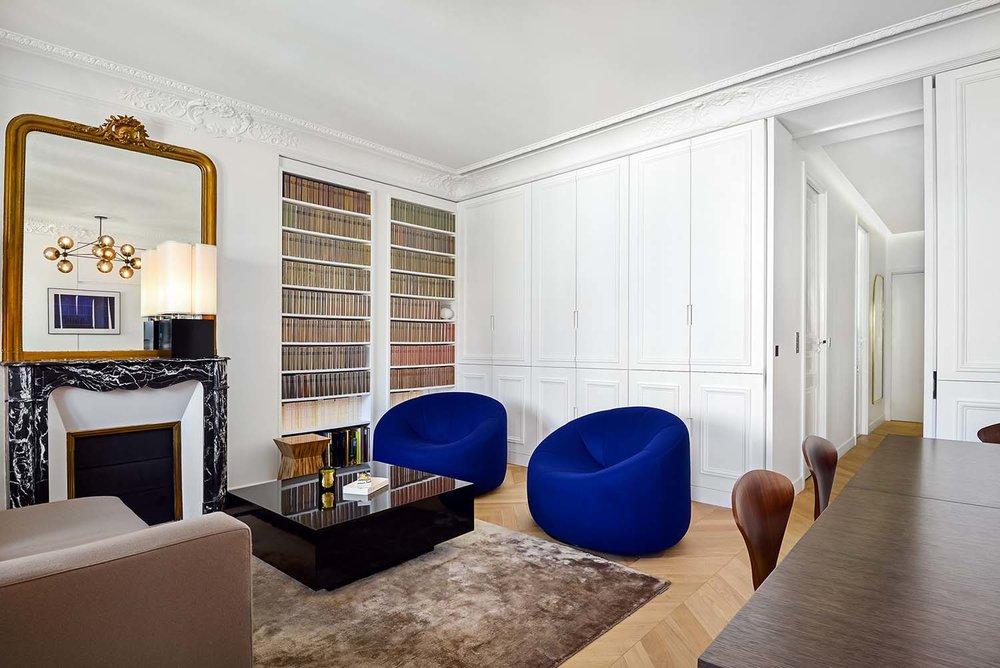 Appartement parisien  , 9ème - architecte d'intérieur Olivia Massimi