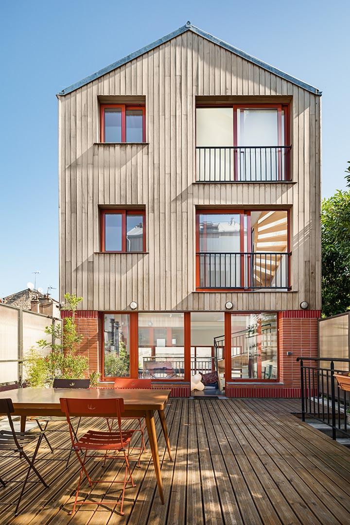 Maisons de ville au Pré-Saint-Gervais Architectes : Atelier du Torrent