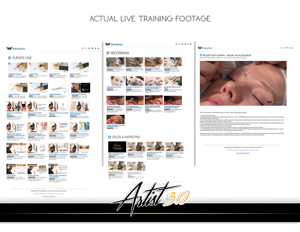 Brow Analytics video section differs from all other similar online courses because it also has full ACTUAL training footage. This means that watching videos here allows you to get actual small group training experience.