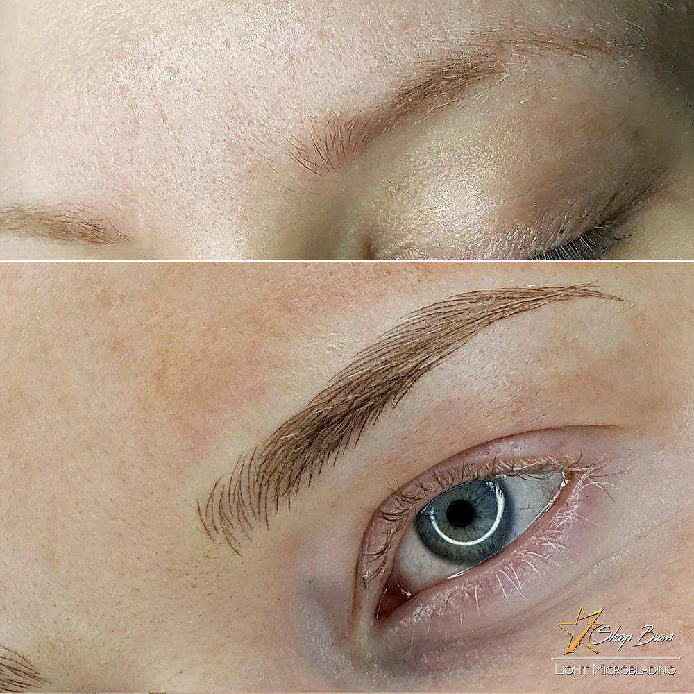 SharpBrows Light microblading. The true level of artistic ability of a microblading practitioner is always seen in close-up unmodified high quality brow pictures. In such pictures artistic intent as well as implementation is seen clearly. We believe that every pair of brows is a piece of art and the only thing taken lightly should be strokes :)