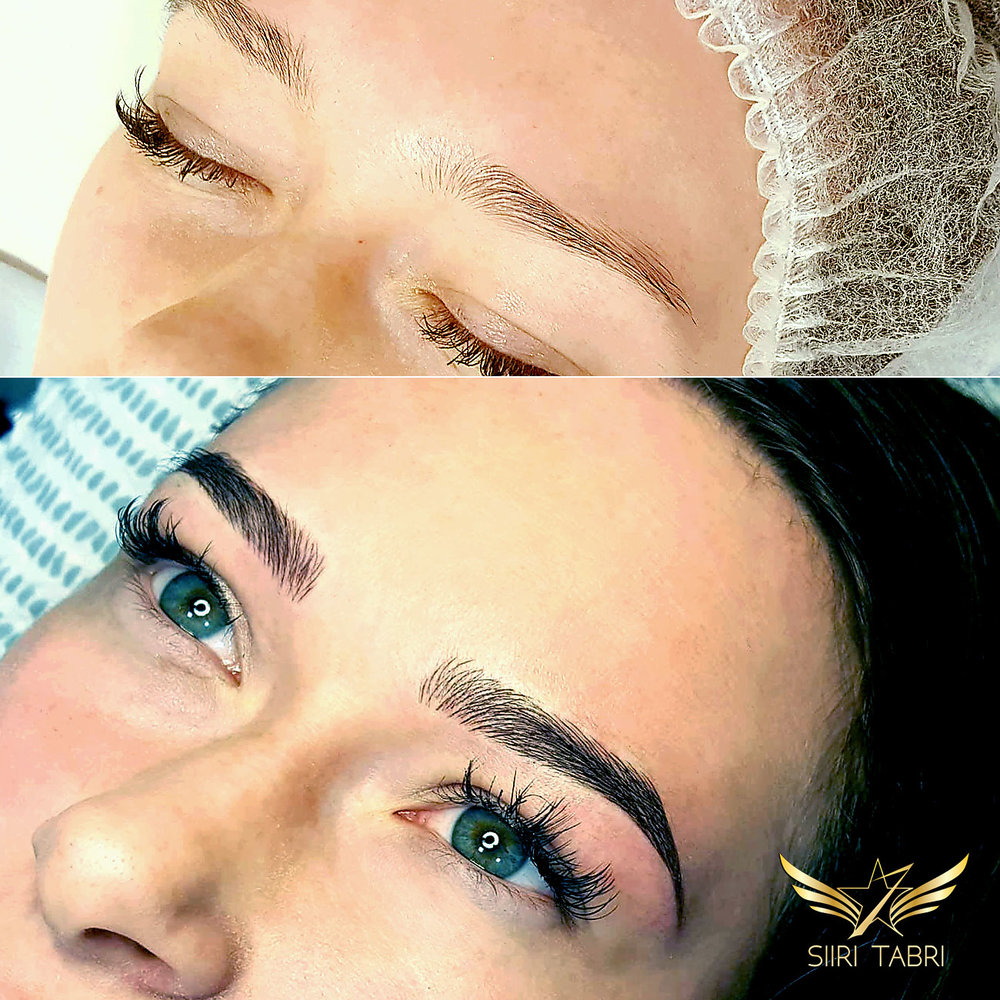 Light microblading.We started with rather good brows. Still, the end result is the level in microblading one should aspire to be on.