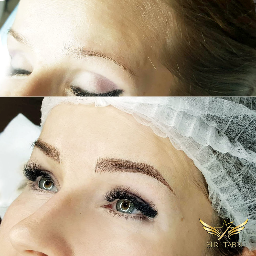 Light microblading.. Brow created from very weak initial situation. Unbelievable change.